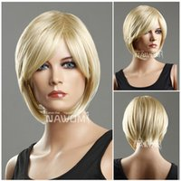 Wholesale hot women hair wigsyoung girls wig short blond wigs for women kanekalon ladies wig A5394