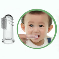 Wholesale Baby Kid Soft Silicone Finger Toothbrush Gum Massager Brush Clean Teeth