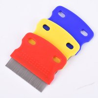 Wholesale Pet Dog Clean Comb Needle Nit Lice Comb Pet Brush Flea Comb Grooming Tool