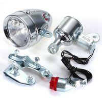 bicycle dynamo generator - Bicycle Motorized Bike Friction Generator Dynamo Headlight Tail Light Kit V W order lt no track