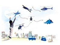aircraft deliveries - Free delivery boy favorite children s room bedroom wall stickers decorative entrance bed truck Blue aircraft wallpaper kids
