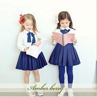 koran - Amber berry New Arrival Children College Style Dress Kids High Quality Dress Girl Cotton Dress Skirt Koran Clothes J7E3E