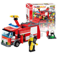 Wholesale Sample Order Fire Engine Building Block Sets Model Fire Fight Series Kids Toys DIY Enlighten Educational Toys S30272