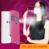 Wholesale Nano Mini USB Handy Face Mist Sprayer Facial Body Nebulizer Steamer Skin Care White Pink Gold Hot Selling