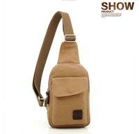 Wholesale New styles unisex Canvas shoulder bag Men s Vintage mini Chest bag colors women s Messenger bags