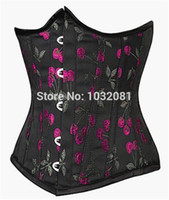 Cheap Long line Red cherry print waist cincher shaper girdle body slimming belt cinta emagrecedora underbust corset corse E127