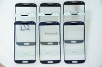 Cheap For Samsung Galaxy S4 i9500 White black blue Grey Screen Glass Replacement & free DHL UPS Fedex shipping 200pcs