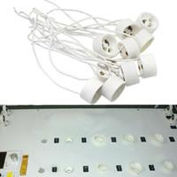 Wholesale NEW LED Bulb GU10 Socket Holder Base Halogen Lamp Light Ceramic Wire Connector lampholders order lt no track