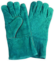 Wholesale 6000 Pairs Green Welder Gloves Cow Split Leather Glove PPE DIY Products FOB PRICE