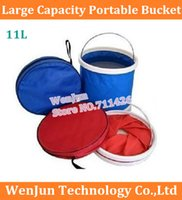 Wholesale L large capacity bucket High Quality portable folding outdoor bucket car bucket car travel supplies order lt no track