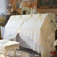 Wholesale Mercure warriors Piano cover piano cover European beige lace wedding texture dust cover piano piano batches