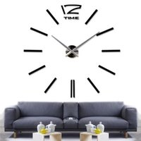acrylic graphic designer - 1PCS Big mirror wall clock Modern design large decorative designer wall clocks watch wall sticker Home decorations EJ671287