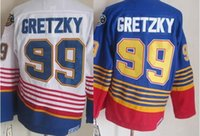 best nhl - 2016 New Best Top Quality Stitched GRETZKY blue white wayne gretzky jerseys nhl hockey jerseys