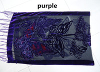 gift - 2015 Fashion Butterfly Burnout Velvet Scarf Women Wrap Autumn and Winter For Mom and Wife Gift