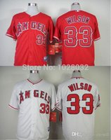 angels c - 2015 New TOP Quality Los Angeles Angels of Anaheim Jersey C J Wilson Jersey Cool Base Jersey White Red Embroidery Logo S XL