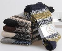 Wholesale winter skiing socks teeagers boys students mens wool socks male thicken warm wool woolen bohemia tiered socks