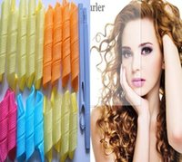 Wholesale Spiral Ringlets Hair Rollers Circle Curl Former Stretched Length Hair Curler Pack of