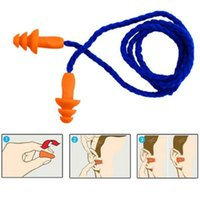 Wholesale Pairs M Soft Silicone Corded Ear Plugs Reusable Hearing Protection Earplugs