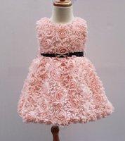 Cheap Flower Girl's Dresses Best lace dress 3D flower floral tutu