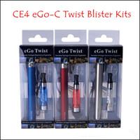 Wholesale CE4 Blister kits eGo C Twist mah mah mah eGo c Twist Variable Voltage Battery for E Cigarette E Cig All Colors Instock