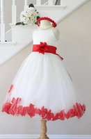 begonia flower pictures - BEGONIA RED Flower Girl Dresses Petal IVORY Custom Color Spaghetti Strap Wedding Easter Bridesmaid For Baby Children Toddler Teen Girls
