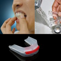 Wholesale Plasticity Gum Shield Adults Dental Tray Mouth Guard Teeth Protect Box W1308