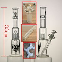 armed head - High quality glass bong quot two function M shower head perc with inline perc arm perc downstem and bowl