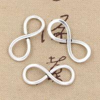 achat en gros de zinc bracelet en alliage de l'infini-100pcs Charms infinité lien 30 * 12mm Antique, ajustement en alliage de zinc en forme, argent tibétain vintage, bricolage pour bracelet collier