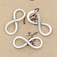 Wholesale 100pcs Charms infinity link mm Antique Zinc alloy pendant fit Vintage Tibetan Silver DIY for bracelet necklace