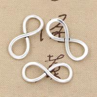 antique vintage necklaces - 100pcs Charms infinity link mm Antique Zinc alloy pendant fit Vintage Tibetan Silver DIY for bracelet necklace