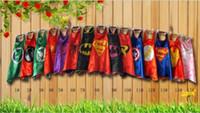 Unisex autumn favors - Children s Poncho New superhero capes party favors Superman Spiderman Batman Captain America Ironman mono layer capes Kids Poncho