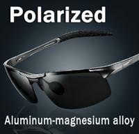 Wholesale Spring Hinge Polarized Sunglasses new fashion Aluminum and magnesium alloy Frame Men Driving Sun Glasses Polaroid Lens Sports Spectacls