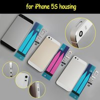 bar metal housing - for iPhone s Back Housing Metal Frame Battery Cover Replacement Color With SIM Card Tray Side Buttons