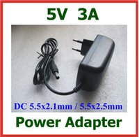 Wholesale 5V A mA x2 mm x2 mm Charger Power Supply EU US Plug Power Adapter Drop Shipping
