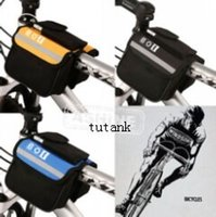 Wholesale NEW WATERPROOF BICYCLE BIKE DOUBLE PANNIER MOUNTAIN FRAME FRONT TUBE SADDLE BAG