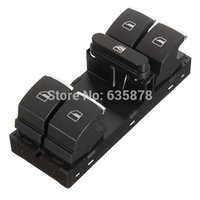 Wholesale Promotion High Quality Plastic Black Electric Power Window Master Switch for VW Golf Jetta MK5 MK6 Passat CC order lt no track