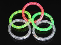 Wholesale 50pcs Led novelty toys Romantic led glow bracelets bangle child luminous flash toy christmas outdoor decoration