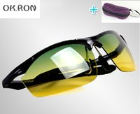 night vision goggles - 2015 driving mirror day and night dimming night vision goggles polarized sunglasses men aluminum magnesium alloy cycling sunglasses