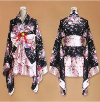 Wholesale Sakura Kimono Cosplay anime maid costume Japanese kimono dress Lolita Princess Halloween cosplay costume