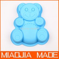 Wholesale for Fedex pc TEDDY BEAR Silicone Birthday Cake Pan Muffin Pan Children Baking Pan Tin Mold Party