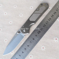 Wholesale Sanrenmu SRM LUC SA Pocket EDC Camping Survival Folding Knife Blade Silver Stainless Steel Handle Cr13Mov Blade