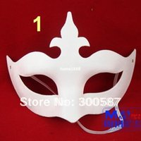 other paper mache - Unpainted Paper Mache Mardi Gras Eye Mask hand craft Halloween Party Mask Carnival Mask many styles