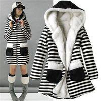 Wholesale 2015 fashion new Fashion Womens Zebra Thicken Winter Warm Coat Lady Fur stripe Jacket Outwear Coat