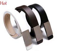 belt buckle types - Hot Sale Belt Man Leather Belt Formal Type Belt Metal Automatic Buckle Belts Casual Brown Black White Pants Belts Waistbelt Strap Top