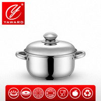 Wholesale YAWARD cm Edelstahl Topf Stainless Steel Cooking Pot Casserole With Heat resistant Knob Stainless Steel Lib