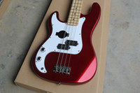 Wholesale left hand strings PRECISION BASS wear body electric BASS Wine red