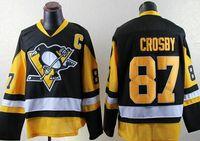 Wholesale Mens Penguins Sidney Crosby Black NEW PREMIER Player Alternate Jersey Hot Sale Hockey Jerseys Best Quality Sports Jerseys Mix Order