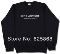 laurent - H408 spring AIN T LAURENT Women hoodies Men Pullover Hoodie crew neck sweatshirts couple clothes fashion baseball jerseys