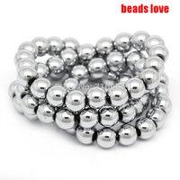 Wholesale Natural Stone Silver Plated Hematite Shamballa Beads MM quot Per Strand Pick Size F00128
