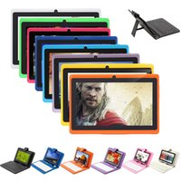 Wholesale US Stock IRULU Q88 quot Android GB Tablet PC ALLwinner A23 Dual Core Dual Camera MB WIFI Tablets Bundle Keyboard Case